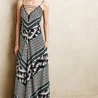 Mala Lace-Up Maxi Dress by Cynthia Vincent Black Motif