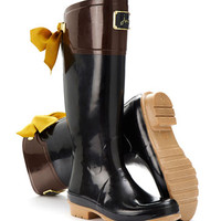 Black Evedon Womens Premium Welly  | Joules UK