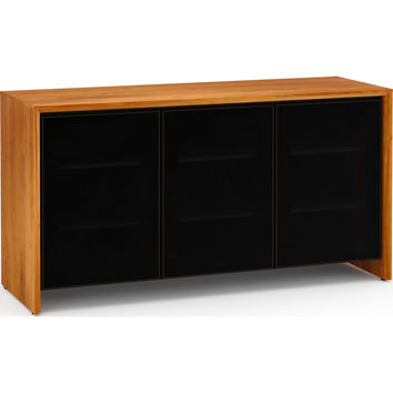 Barcelona 65 Inch TV Stand Cabinet Extra Tall Natural Cherry