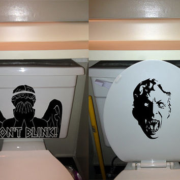 Dont blink, angel toilet decal