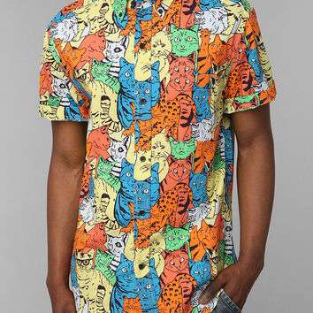 Urban Outfitters - Shirts For All My Friends Weird Kitty Button-Down Shirt