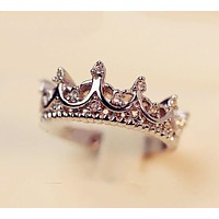 Women's Crystal Crown Ring