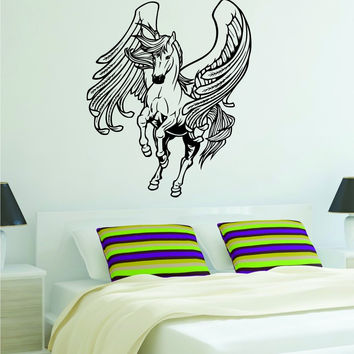 Pegasus Horse Greek Mythology Decal Sticker Wall Vinyl Decor Art