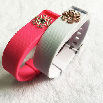 Fitbit Flex with ornament jewelry flower leaf Wireless Wristband Bracelet Replacement Watch Band for flex ornament
