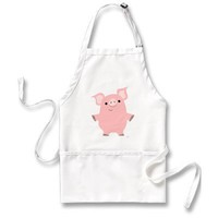 Pig standing up apron from Zazzle.com