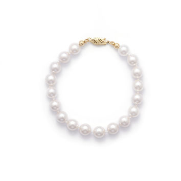 "7"" 6-6.5mm Grade AA Cultured Akoya Pearl Bracelet"