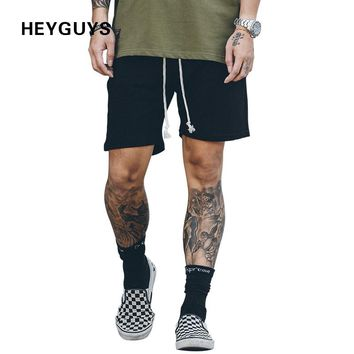 HEYGUYS 2017 Hot Sale Men's Summer Fashion sweat Shorts Casual Elastic Waist  Shorts men high quality street wear hip hop
