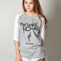 My Chemical Romance Shirt MCR Rock Band Gerard Way Baseball Raglan Tee Shirts Long Sleeve Women T-Shirt