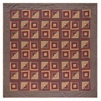Millsbororo - King - Patchwork Quilt - Lasting Impressions - Burgundy, Rust, Navy, Tan - Country Rustic Primitive
