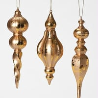 24 Christmas Ornaments - Gold