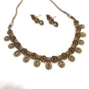 1Gm gold Indian Traditional Style Necklace