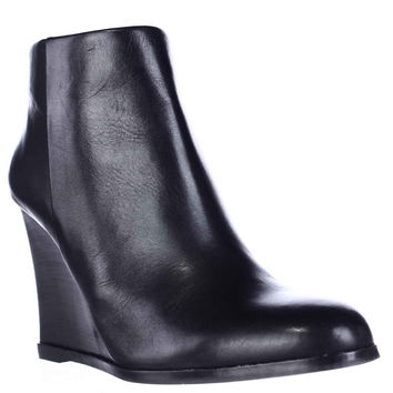 Vince Camuto Gemina Wedge Sleek Ankle Booties - Black