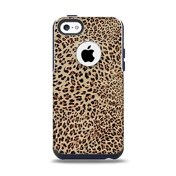 The Brown Vector Leopard Print Apple iPhone 5c Otterbox Commuter Case Skin Set