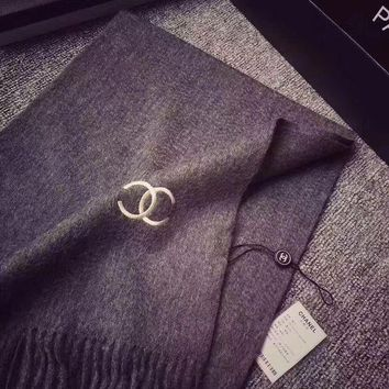 LMFUP0 Chanel Women Cashmere Warm Winter Knit Cape Scarf Scarves1