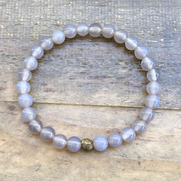"Grey Agate ""Calm"" bracelet"