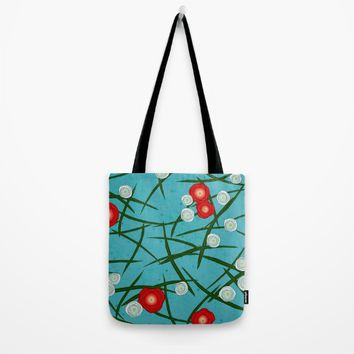 Japenese Water Flowers Pattern Tote Bag by oursunnycdays