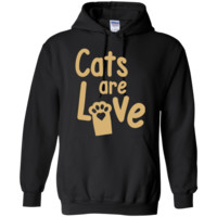 Cats are Love Gold Hoodie