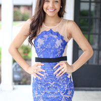 Bound for Royalty Dress - Royal Blue