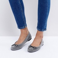 New Look Shimmer Ballet Flat at asos.com