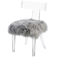 Interlude Home Tristan Klismos Chair - Sheep Skin