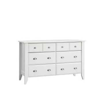 SAUDER, Shoal Creek Collection White 6-Drawer Dresser, 411201 at The Home Depot - Mobile