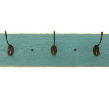 Reclaimed Wood Coat Rack - Beach House