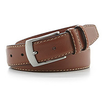 Cremieux Double Keeper Leather Belt - Dark Tan