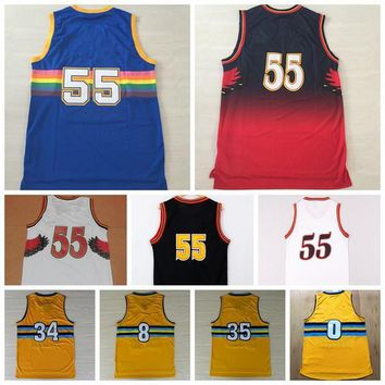 2016 Mens Basketball Jersey Shirt #55 #0 #8 #34 #35 Throwback Sports Uniforms Wear Blue Red White With Player Name Team Logo Size S-XXXL