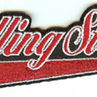 Rolling Stones Iron-On Patch Red Letters Logo