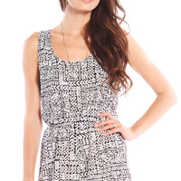 COLLAGE PRINTED ROMPER - WHITE