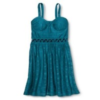 Xhilaration® Junior's Lace Bustier Dress - Assorted Colors