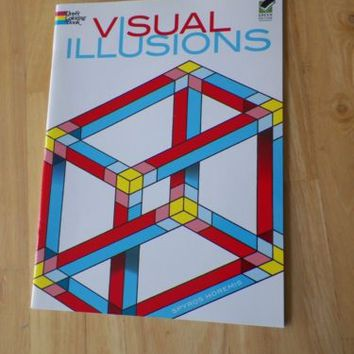 Visual Illusions Dover Coloring Book by Spyros Horemis Like New