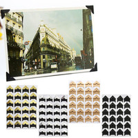 5 Colors DIY Vintage Corner kraft Paper Stickers 24pcs/lot (1 sheet) for Photo Albums Frame Decoration Scrapbooking