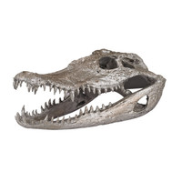 Crocodile Resin Skull Sculpture
