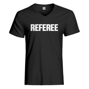 Mens Referee Vneck T-shirt