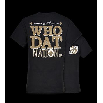 Southern Couture New Orleans Saints Who Dat Nation Fleur De Lis T-Shirt