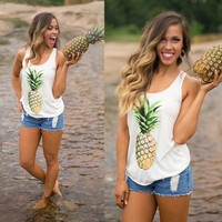Pretty in Pineapple Tank Top