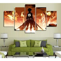 Attack on Titan Eren Yeager 5 Panel Poster Prints