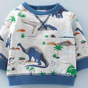 Boys Lightweight Dinosaur Sweatshirt