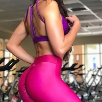 Brazilian Workout Legging - SoBe Scrunch Booty Pink