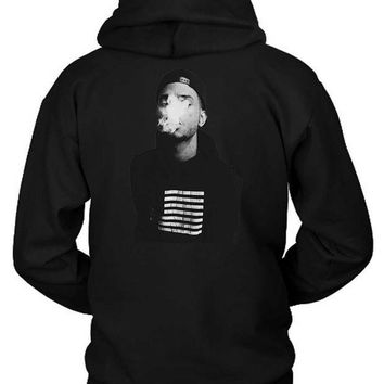 ICIK7H3 Bryson Tiller Cover Smoke Hoodie Two Sided