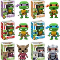 Funko POP Teenage Mutant Ninja Turtles Pop Vinyl Figures - Set of 6