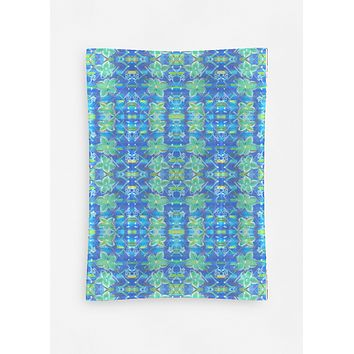 Abstract Blue Floral Dish