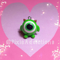 Monsters Inc. Mike Wazowski Polymer Clay Charm