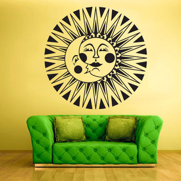 shop sun and moon wall decal on wanelo. Black Bedroom Furniture Sets. Home Design Ideas