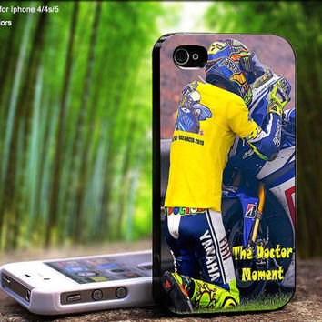 Valentino Rossi Emotional Moment Design For iPhone 5 / 4 / 4S - Samsung Galaxy S3 / S4 ( Black / White case )