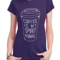 Coffee Is My Spirit Animal Girls T-Shirt