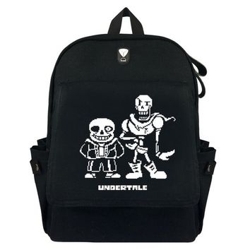 Anime Backpack School New Undertale Canvas Backpack School Bags Bookbag Mochila Cosplay Sans Papyrus kawaii cute Travel Shoulder Bags Knapsack AT_60_4