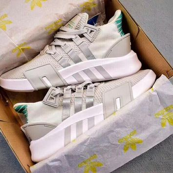ADIDAS EQT BASK ADV Women Men Light Blue Sneakers Three Line Shoes B-CSXY Grey(green tail)