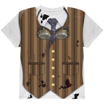 Halloween Steam Punk Engineer Costume All Over Youth T Shirt